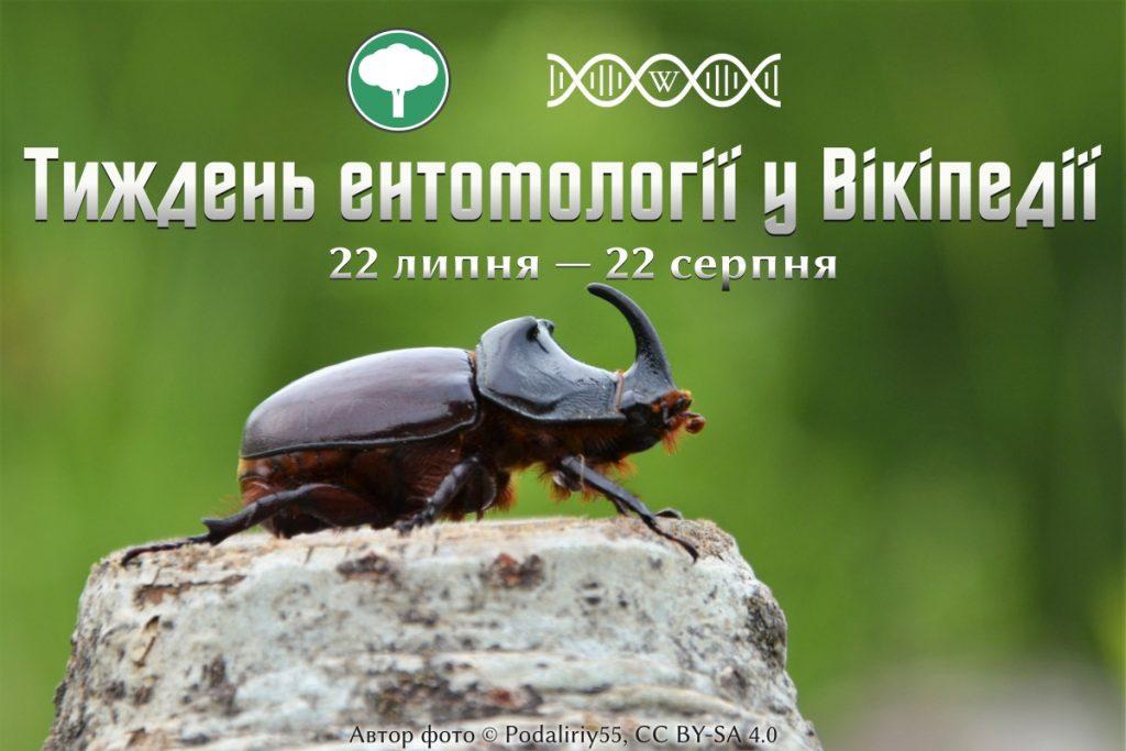 Тиждень ентомології у Вікіпедіїї, 22 липня - 22 серпня 2020 року. За підтримки оргкомітетів конкурсів Вікі любить Землю та Наукового конкурсу